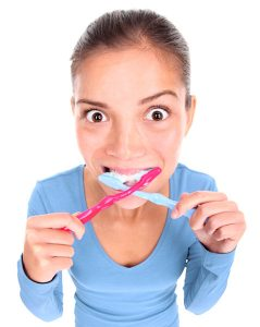 Brushing your teeth is important
